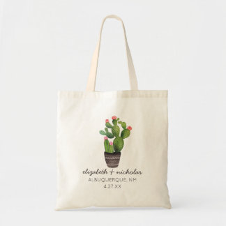 Pink Floral Cactus Tote Bag