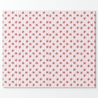 Pink Floral Chic Roses Gift Wrap