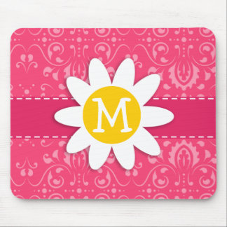 Pink Floral; Daisy Mouse Pads