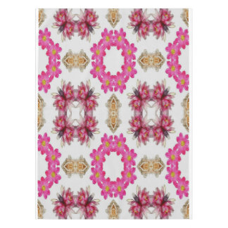 Pink Floral Decorative Design Tablecloth