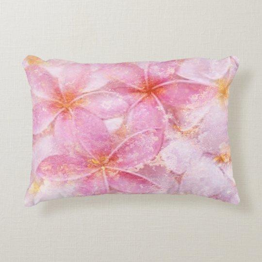 Pink Floral Decorative Pillow
