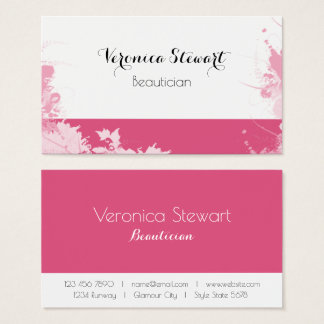 Pink Floral Design Business Business Card