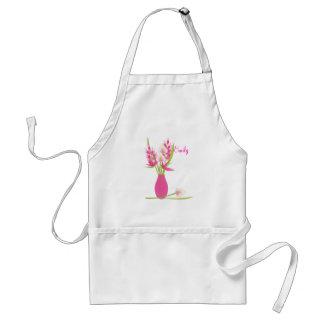 Pink Floral Design Standard Apron