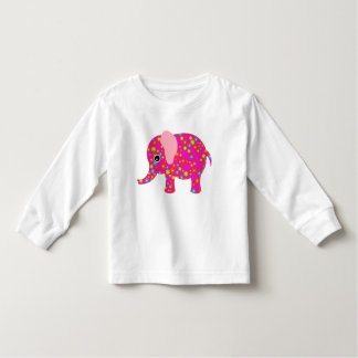 Pink floral elephant tee shirts