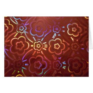 Pink Floral Hologram Card