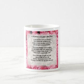 Pink Floral -  Mother in Law Poem Coffee Mug