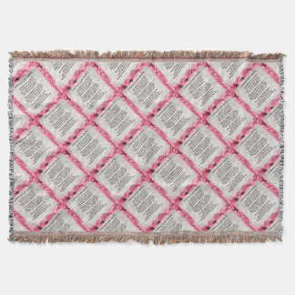 Pink Floral -  Mother in Law Poem Throw