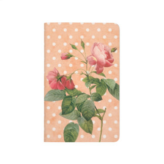 Pink floral notebook vintage rustic journals