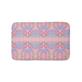 pink floral paisley bathmat
