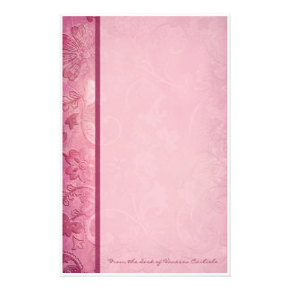 Pink Floral Paisley Personalized Stationery