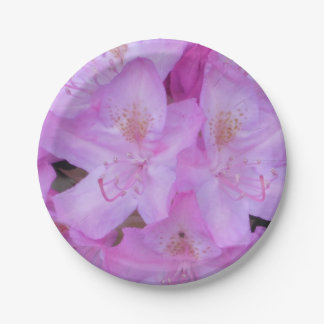 Pink Floral Paper Plates 7 Inch Paper Plate