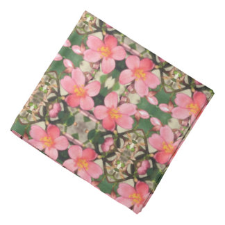 Pink Floral Pattern Bandana