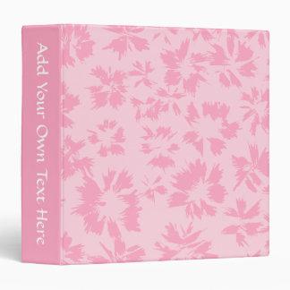 Pink floral pattern. binders