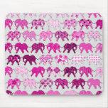Pink Floral Pattern Elephants