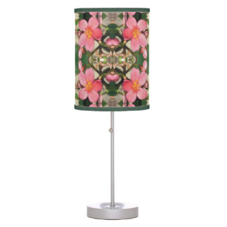 Pink Floral Pattern Table Lamp