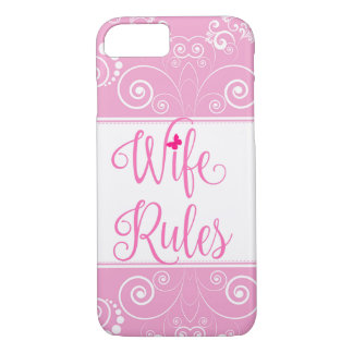 Pink Floral Pattern Wife Rules Case