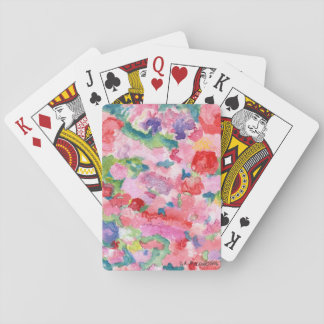 Pink Floral Playing Cards