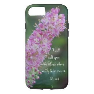 Pink Floral Praise iPhone Case w/KJV Scripture