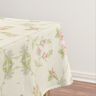 Pink Floral Romantic Elegant Girly Tablecloth
