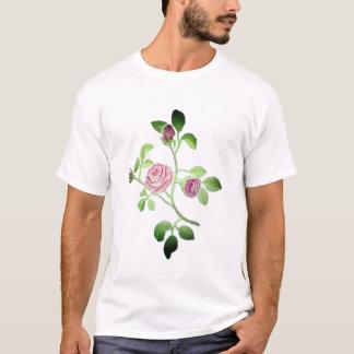 Pink Floral Rose Vine accent T-Shirt