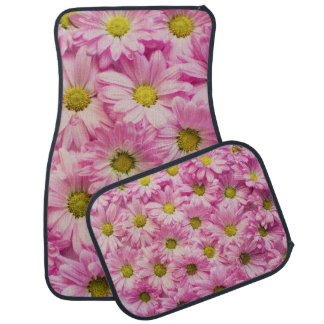 Pink Floral Set of 4 Car Mats
