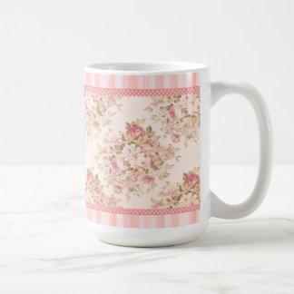 Pink Floral Shabby Roses Mug