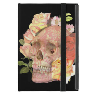 Pink Floral Skull Roses Picture Cover For iPad Mini
