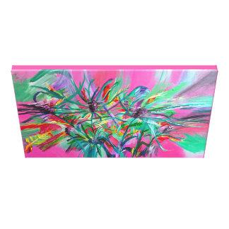 Pink Floral Splash Canvas Print