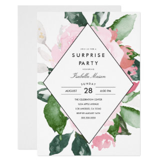 Pink Floral | Surprise Party Invitation