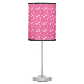 Pink Floral Table Lamp