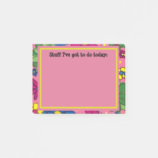 Pink Floral To Do List Personalized Post-it® Notes