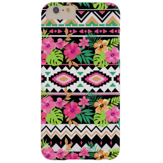 Pink Floral Tribal Pattern Girly Barely There iPhone 6 Plus Case