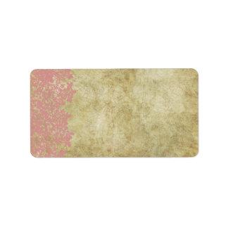 Pink Floral Vintage Wedding Address