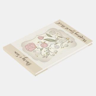 Pink Floral Wedding Guest Book