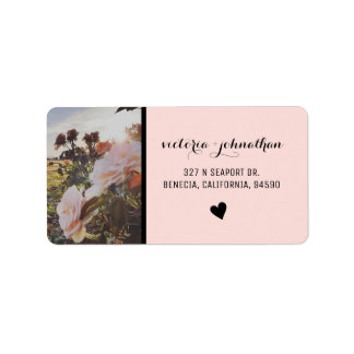 Pink Floral Wedding Labels - Chic - Floral