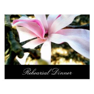 Pink Floral Wedding Rehearsal Dinner Invitation Postcard