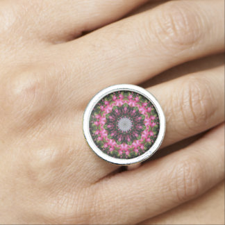 Pink Floral Wisp Ring
