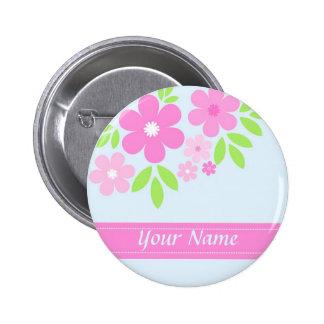 Pink florals - Button
