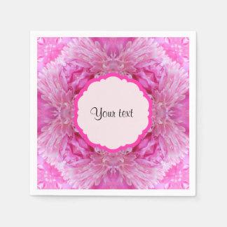 Pink Florals Disposable Napkin