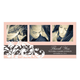PINK FLOURISH | WEDDING THANK YOU CARD PICTURE CARD
