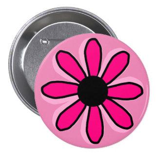 Pink Flower 3 Inch Round Button