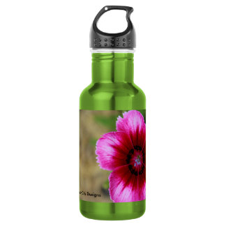Pink Flower 532 Ml Water Bottle