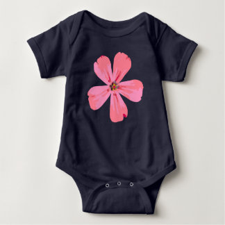 Pink Flower baby body suit. Baby Bodysuit
