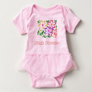 Pink Flower Baby Tutu Bodysuit