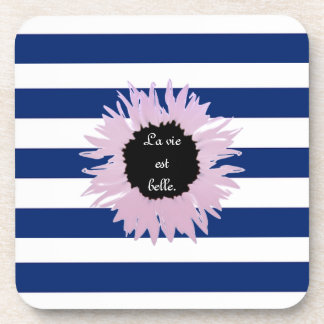 Pink Flower Beverage Coaster