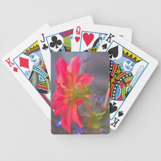 Pink Flower Bicycle Playing Cards