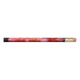 Pink Flower Black Background Pencil