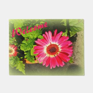 Pink Flower Bok Tower Gardens Lake Wales Florida Doormat