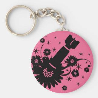 Pink Flower Bomb Keychain