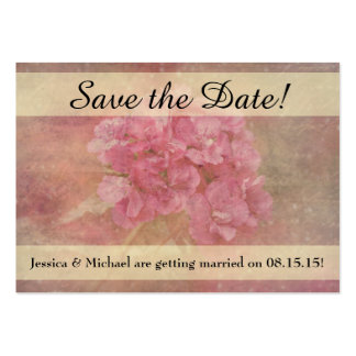 Pink Flower Bouquet Save the Date Business Cards